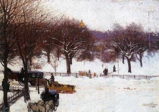 Boston Public Gardens, Edward Simmons