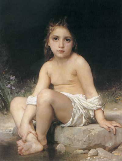 Child at Bath, William-Adolphe Bouguereau