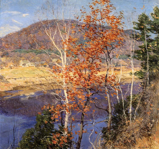 Closing Autumn, Willard Metcalf