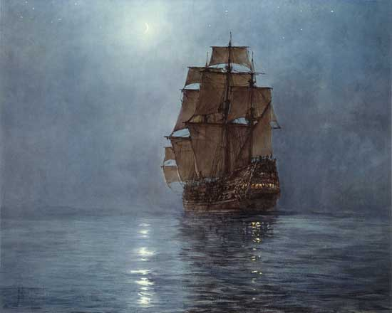 Crescent Moon, Montague Dawson