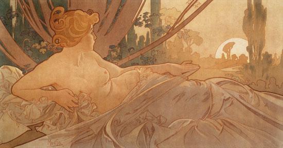 Dawn, Alphonse Mucha