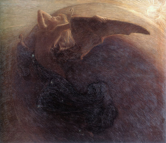 Day Awakens Night, Gaetano Previati