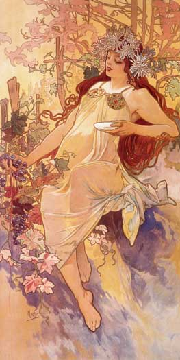 Fall, Alphonse Mucha