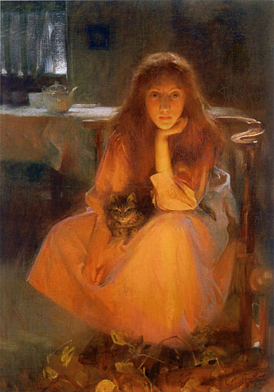 Fire Fancies. Arthur Hacker