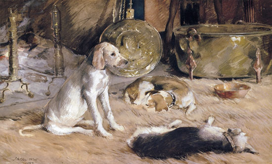 Fireside Dreams, Julian Alden Weir