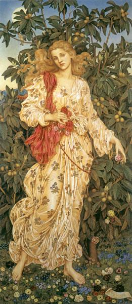Flora, Evelyn De Morgan, canvas