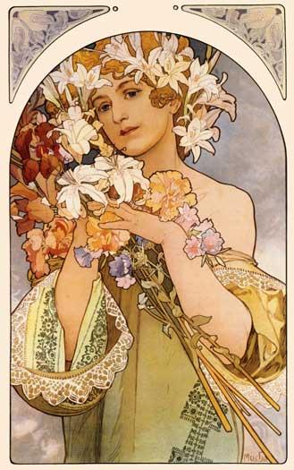 Flowers, Alphonse Mucha