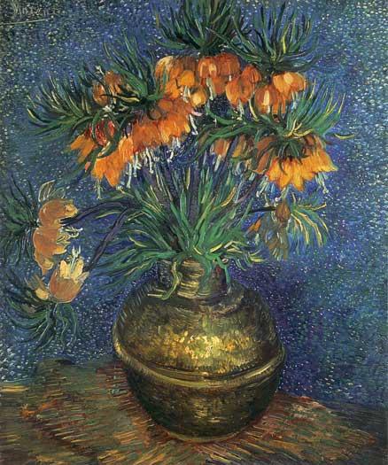 Fritillaries in a Copper Vase, Vincent van Gogh