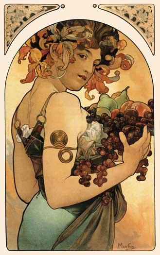 Fruit, Alphonse Mucha