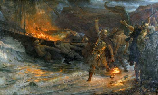 Funeral of a Viking, Sir Frank Dicksee