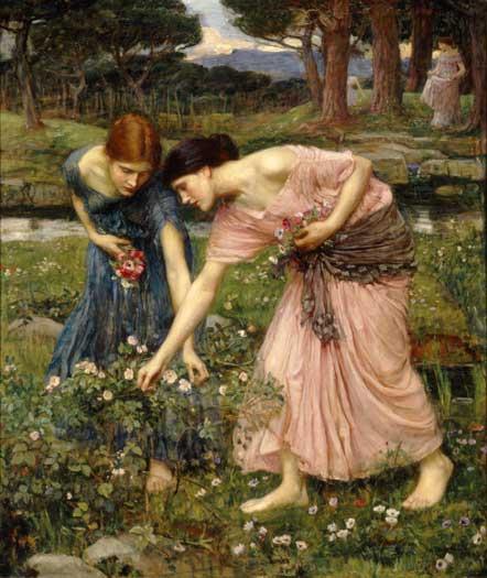 Gather Ye Rosebuds While Ye May - 1909, John William Waterhouse