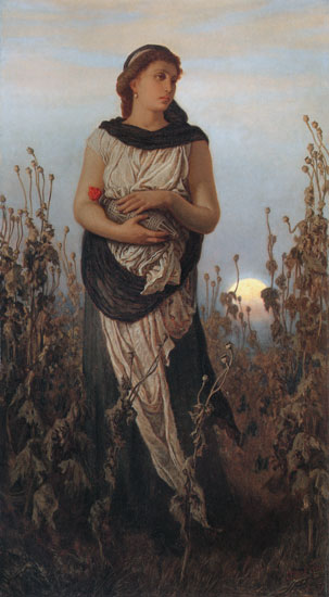 Girl with Poppies