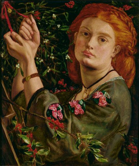 Hanging the Mistletoe, Dante Gabriel Rossetti