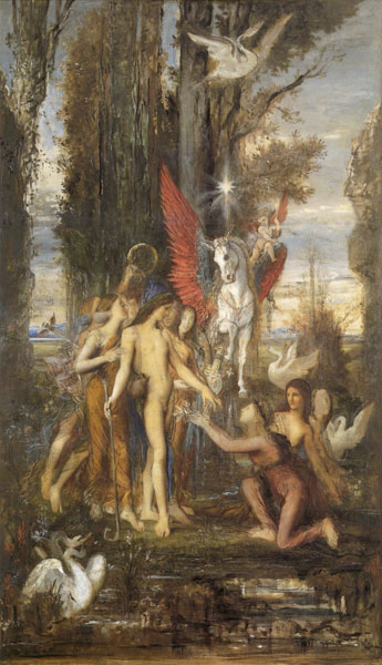 Hesiod and His Muses, Gustave Moreau