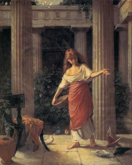In the Peristyle, John William Waterhouse