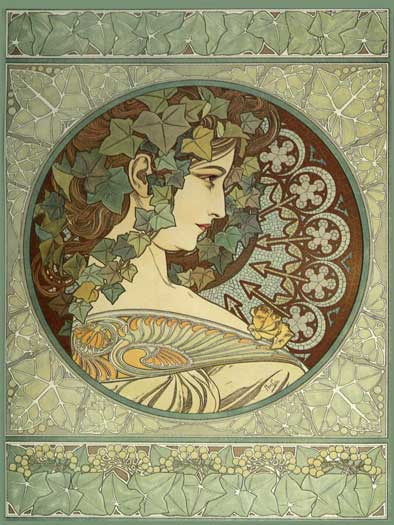 Ivy, Alphonse Mucha