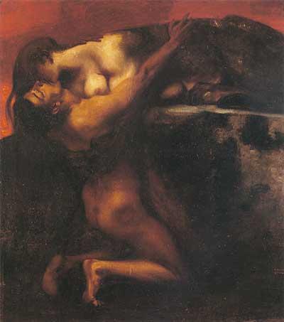 Kiss of the Sphinx. Franz von Stuck