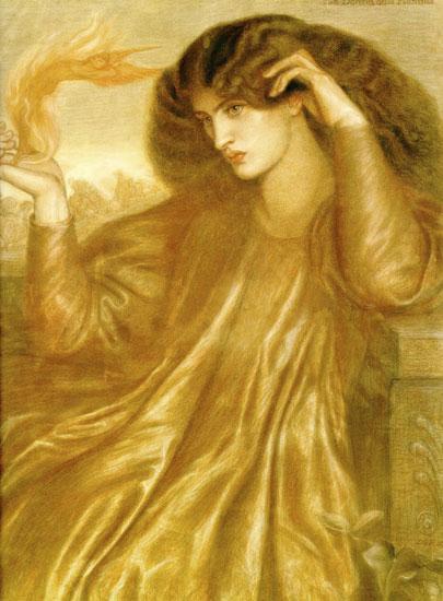 La Donna del Fiamma, Dante Gabriel Rossetti