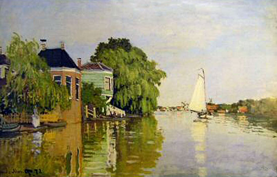 Landscape near Zaandam, Monet