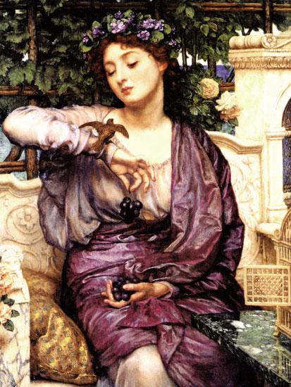 Libra and Her Sparrow, Sir Edward John Poynter
