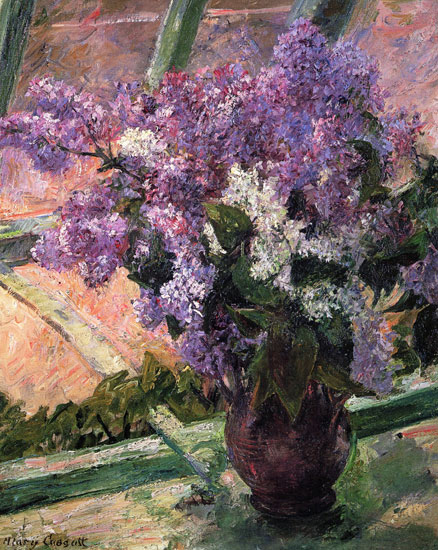 Lilacs in a Window, Mary Cassatt