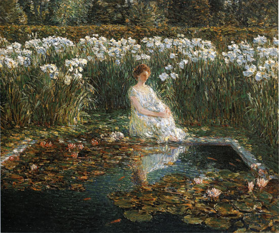 Lilies, Childe Hassam