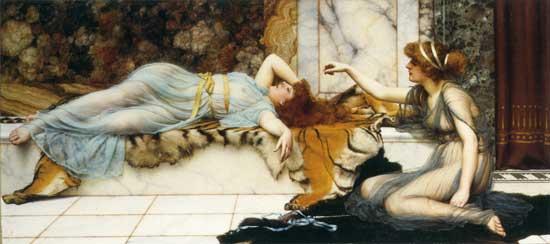 Mischief and Repose, John William Godward