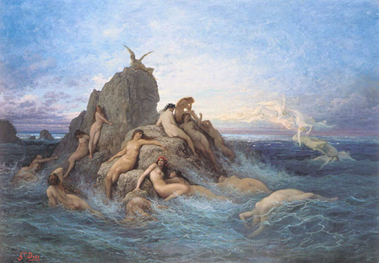 Naiads of the Sea, Gustave Doré