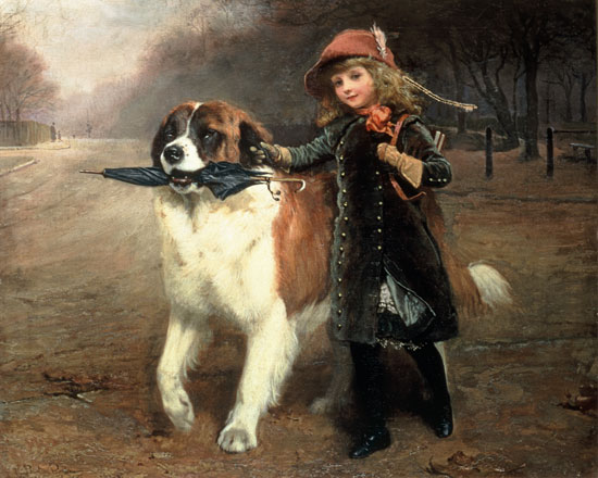 Off to School, Charles Burton Barber