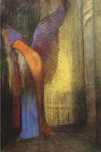 Old Man with Wings and a Beard, Odilon Redon
