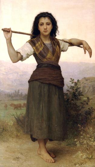 Pastourelle, William-Adolphe Bouguereau