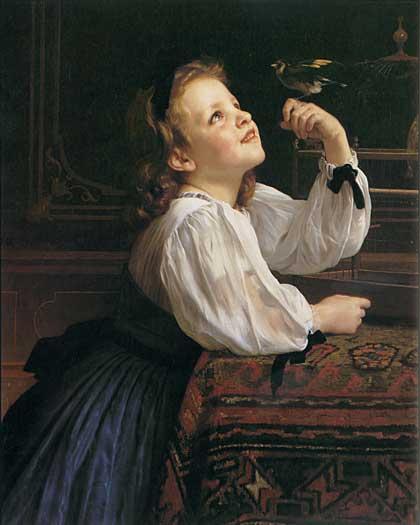 Pet Bird, William-Adolphe Bouguereau