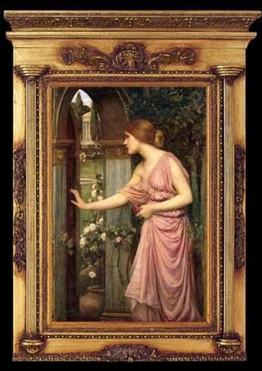 Psyche Entering Cupids Garden, Waterhouse