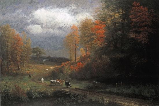 Rainy Day in Autumn, Massachusetts, Albert Bierstadt