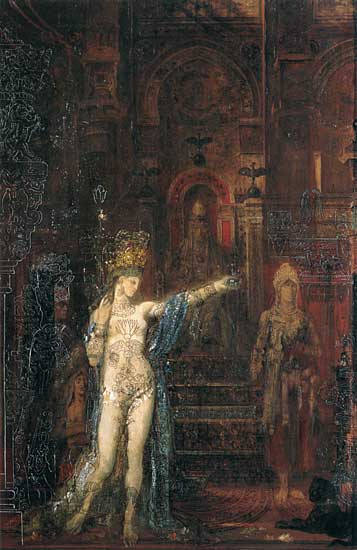 Salome Dancing for Herod (Salome Tattooed), Gustave Moreau