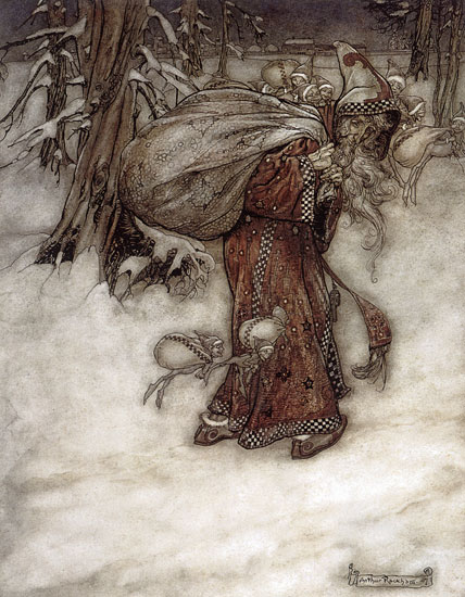 Santa Claus, Arthur Rackham