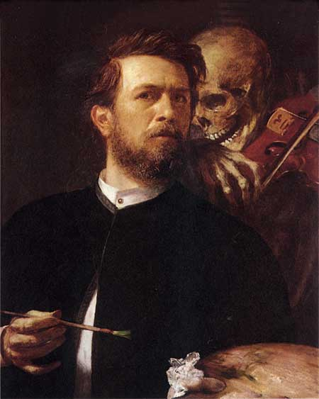 Self Portrait with Death with a Violin, Arnold Böcklin