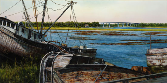 Shrimp Boats, Linda Evanglyn Wallace
