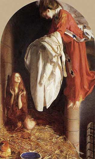 St Agnes in Prison Receiving from Heaven the Shining White Garment, Frank Cadogan Cowper