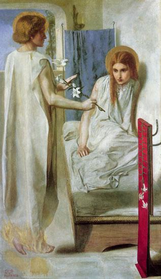 The Annunciation, Dante Gabriel Rossetti