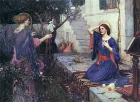 The Annunciation, John William Waterhouse
