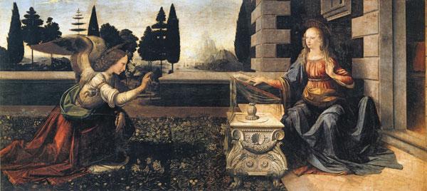 The Annunciation, diVinci