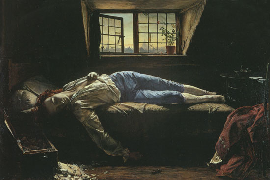 The Death of Chatterton, Henry Wallis