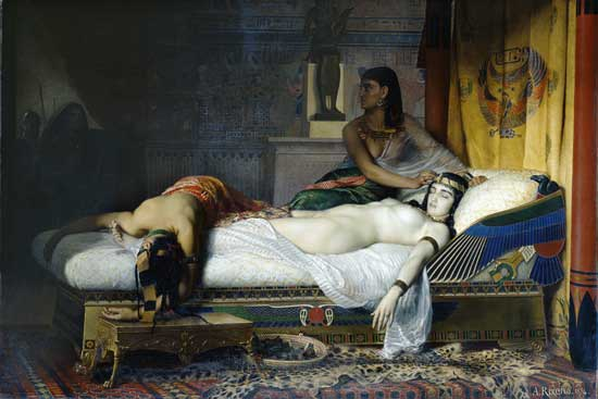 The Death of Cleopatra, Jean-Andre Rixens