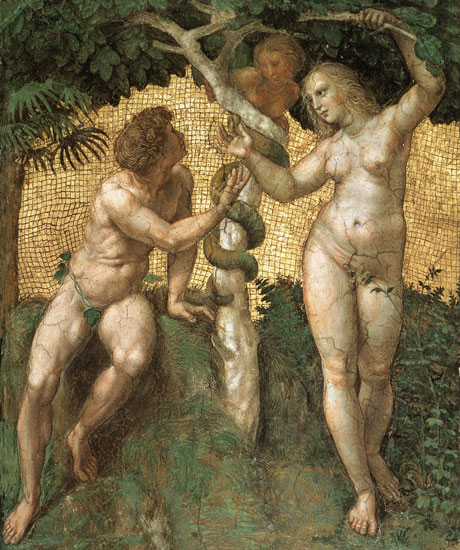 The Fall - Adam and Eve, Raphael