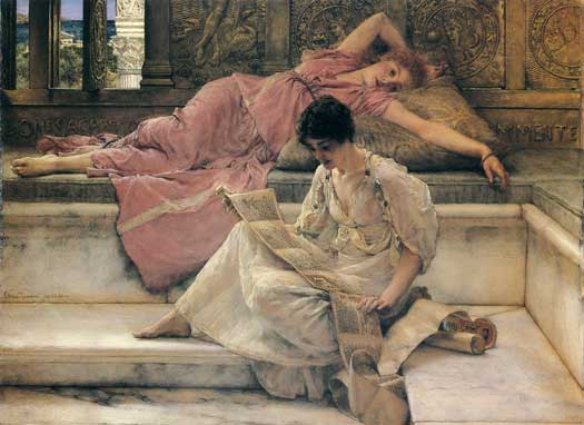 The Favorite Poet, Sir Lawrence Alma-Tadema