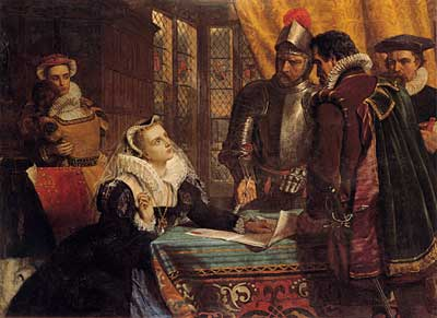 The Forced Abdication of Mary, Queen of Scots, Charles Lucy