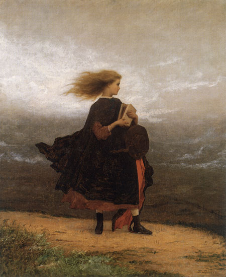 The Girl I Left Behind Me, Eastman Johnson, print on canvas