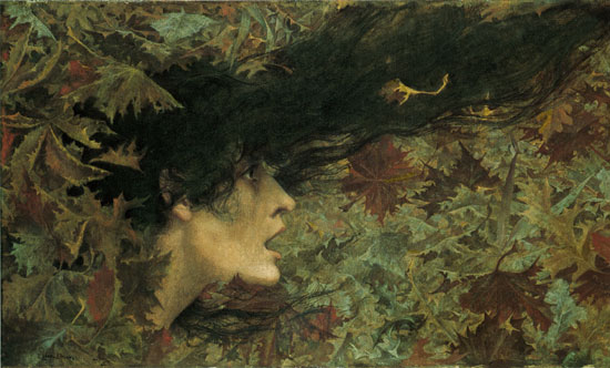 The Gust of Wind, Lucien Lévy-Dhurmer
