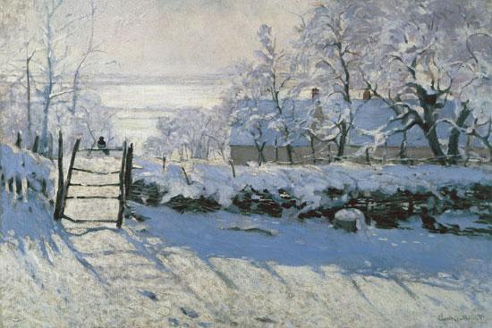 The Magpie, Monet